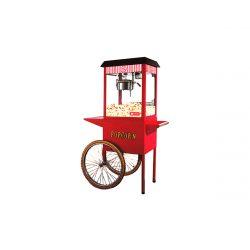 Stroj na popcorn s vozíkom - 1300 W   HKN-PCORN-T