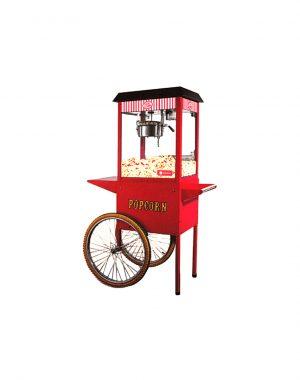 Stroj na popcorn s vozíkom - 1300 W | HKN-PCORN-T