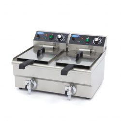 Elektrická fritéza s kohútikom - 2x10 l Maxima 09365229
