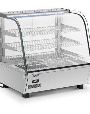 Ohrevná vitrína - 120 l | RCWS-120S vyrobený z nehrdzavejúcej ocele a tvrdeného skla bude dobre fungovať v bufetoch, kaviarňach,reštauráciách
