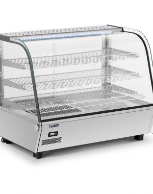 Ohrevná vitrína-160 l | RCWS-160S vyrobený z nehrdzavejúcej ocele a tvrdeného skla bude dobre fungovať v bufetoch, kaviarňach, reštauráciách.