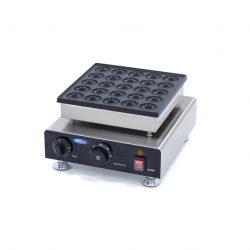 Palacinkovač na mini palacinky Poffertjespan-25KS|Maxima 09374130má hliníkový pekáč s nepriľnavým povrchom, ktorý zaisťuje dobré vedenie tepla