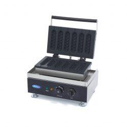 Vaflovač na Hot Dog - 6 ks | Maxima 09374242 má výkonné vyhrievacie teleso, pomocou ktorého sa forma rýchlo a ľahko udržuje v teple.