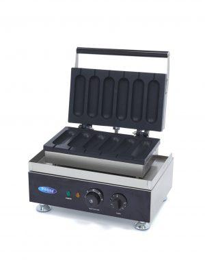 Vaflovač na Hot Dog - klasický | Maxima 09374241 má výkonné vyhrievacie teleso, pomocou ktorého sa forma rýchlo a ľahko udržuje v teple.