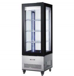 Chladiaca vitrína 550L - čierna | Hendi 233283