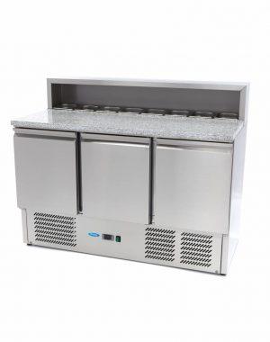 Chladiaci pizza stôl 400L - žulová doska Maxima 09400205
