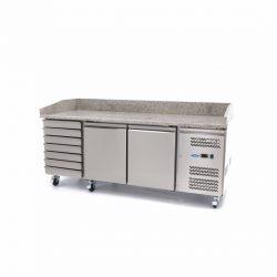 Chladiaci pizza stôl 580L - žulová doska Maxima 09400210