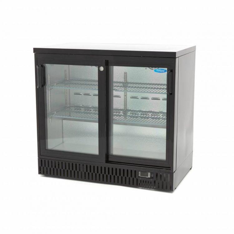 Chladnička na nápoje Deluxe 227L - posuvné dvere | Maxima 09400915