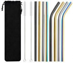 Farebné kovové slamky - sada 10ks | M08654