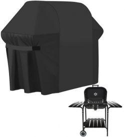 Kryt na gril 147x61x122 cm   čierny